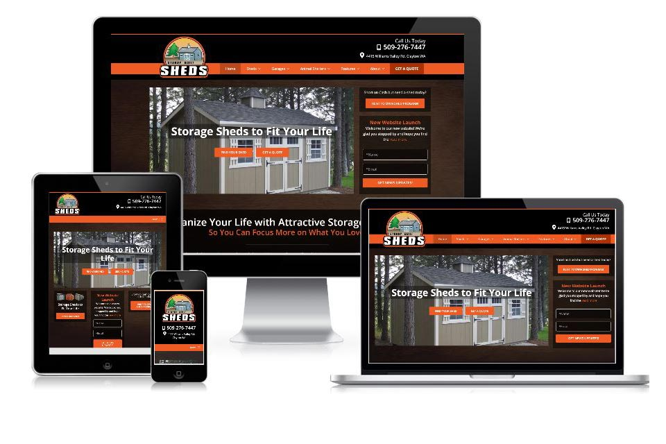 sturdy built sheds new website launch