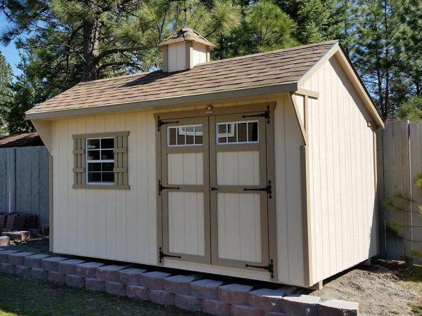 8x14 carriage shed sturdy built clayton washington